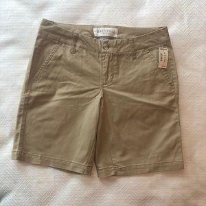Khaki Aeropostale Shorts.  Size 4.  NWT.
